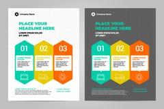 Design för mall för Infographic broschyrorientering stock illustrationer