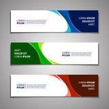 Design för mall för vektorbanerbakgrund modern stock illustrationer