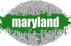 Design för Maryland ordmoln Royaltyfri Fotografi