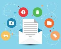 Design för mejlsymbolsmarknadsföring Royaltyfri Illustrationer