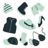 Design för modesamlingsvektor stock illustrationer