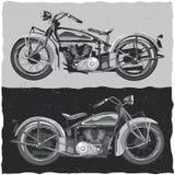 Design för motorcykelt-skjorta etikett Arkivfoton