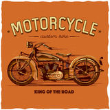 Design för motorcykelt-skjorta etikett Arkivbilder