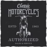Design för motorcykelt-skjorta etikett Royaltyfri Fotografi