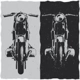 Design för motorcykelt-skjorta etikett Arkivfoto