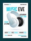 Design för musik Eve Flyer, mall- eller baner Royaltyfria Foton