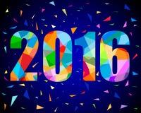 design för nytt år 2016 royaltyfri illustrationer