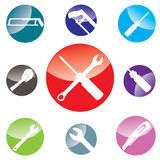 Design för objekthjälpmedelsymbol på vit bakgrund Arkivfoto
