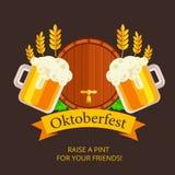 Design för Oktoberfest vektorbakgrund Octoberfest feriebaner royaltyfri illustrationer