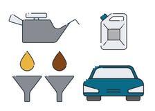 Design för olje- ändring för bil stock illustrationer