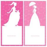 Design för prinsessamallkort Fotografering för Bildbyråer