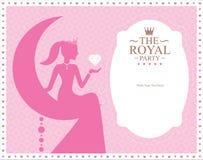 Design för prinsessamallkort Arkivbild