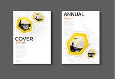 Design för räkning för gul sexhörningsteknologibakgrund modern modern Fotografering för Bildbyråer
