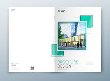 Design för räkningsbroschyrmall Mörker - blått Årsrapport för företags affär, katalog, tidskrift, reklambladmodell idérikt vektor illustrationer