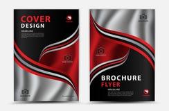 Design för räkningsvektormall, affärsbroschyrreklamblad, årsrapport, mgazineannons, annonsering, bokomslagorientering, affisch stock illustrationer