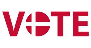 Design för röstningsymbolvektor vektor illustrationer