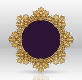 Design för ram för vektortappning guld- Royaltyfri Foto