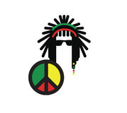 Design för Reggaekulturbegrepp Arkivfoton
