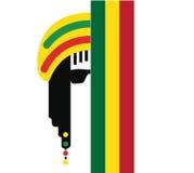Design för Reggaekulturbegrepp Arkivfoto
