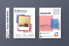 Design för reklamblad A4 Arkivfoton