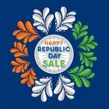 Design för republikdaghälsning royaltyfri illustrationer