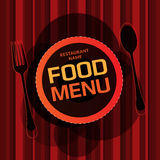 Design för restaurangmenykort Royaltyfria Foton