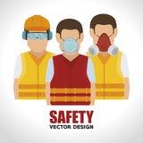 Design för säkerhetsutrustning royaltyfri illustrationer