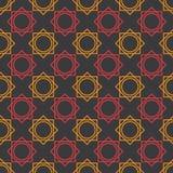 Design för sömlös modell för vektorillustration geometrisk med svart bakgrund vektor illustrationer