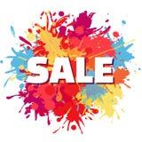 Design för Sale färgstänkabstrakt begrepp Royaltyfria Foton