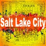 Design för Salt Lake City ordmoln stock illustrationer