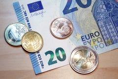 design för sedel för euro 20 ny Arkivfoto