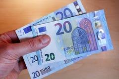 design för sedel för euro 20 ny Royaltyfria Bilder