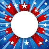 Design för självständighetsdagen eller för special händelse mall royaltyfri illustrationer