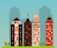 Design för stads- liv Royaltyfria Bilder