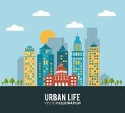Design för stads- liv Arkivfoto