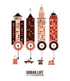Design för stads- liv Arkivbild