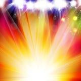 Design för strålkastarevektorbakgrund Royaltyfri Foto