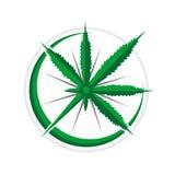 Design för symbol för affärsföretag för cannabiskompass 3D navigations- stock illustrationer
