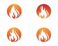 design för symbol för brandflammavektor royaltyfri illustrationer