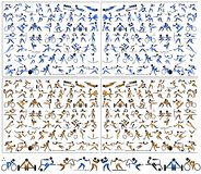Design för symbol för Pictogramsportsymbol Arkivfoto