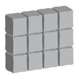 Design för symbol för symbol för vektor för bakgrund för stenvägg royaltyfri illustrationer