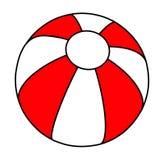 Design för symbol för symbol för vektor för strandboll royaltyfri illustrationer