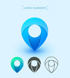 Design för symbol för vektorpekarelogo Brännmärka beståndsdelsamlingen Royaltyfria Foton