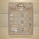 Design för tappningbagerimeny på pappbakgrund Royaltyfri Bild