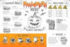Design för tappninghalloween meny gifta sig för tomater för matställemeatrulle rökt Royaltyfria Foton