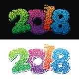 design för 2018 text Arkivfoto