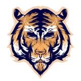 Design för tigerhuvudvektor stock illustrationer