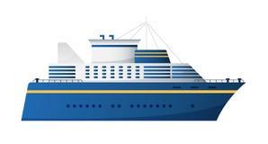 Design för transatlantisk eyeliner för kryssning för skepp för passagerare för vektorsjöväg- och havvattentransport moderiktig pl royaltyfri illustrationer