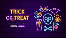 Design för trick- eller festneonbaner stock illustrationer