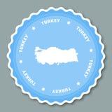 Design för Turkiet klistermärkelägenhet vektor illustrationer